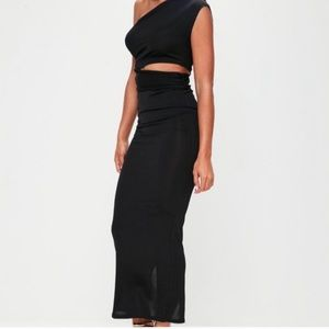 Black cut out midi dress ( Worn Once)